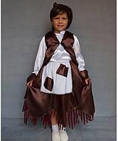 Премиум! Баба Яга Маскарадный Детский костюм, Комплектация 4 Элемента, Размеры 3-6 лет, Украина