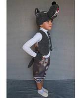 Премиум! Волк Детский костюм на утренник, Комплектация 4 Элемента, Размеры 3-6 лет, Украина