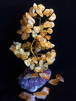 Дерево из камня, сувенирное деревце из цитрина,  размер L