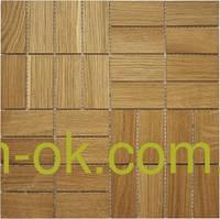Мозаика деревянная COMFORT - 0,288 х 0,288 м Дуб натуральный, фото 1
