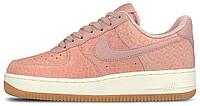 """Женские кроссовки Nike Air Force 1 '07 Premium """"Pink Glaze"""" (найк аир форс низкие) розовые"""