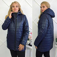Зимняя куртка для женщин. Темно-синий. Размеры 46-54