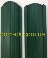Штакет металлический   RAL 6005 матовый двухсторонний (0.5мм ) форма 108 мм