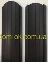 Штакет металлический RAL 8019 матовый двухсторонний (0.5мм ) форма 108 мм