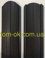 Штакет металлический 108мм  RAL 8019 матовый двухсторонний (0.5мм ) Металл Корея 0,5мм