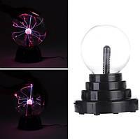 USB плазмабол, плазма шар, лампа с молниями, ночник от USB и батареек
