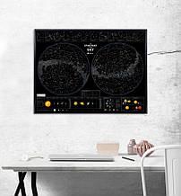 Светящаяся скретч карта звездного неба Star map of the sky
