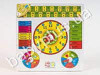 Деревянная игрушка Часы-календарь, 2 вида (рус/укр) MD0004UR