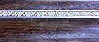 Карниз алюминиевый с молдингом узкий 3,0 м, орех
