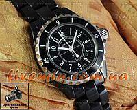 Женские наручные часы Chanel J12 Ceramic All Black керамика японский механизм качество