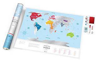 Скретч карта світу Travel Map World Silver