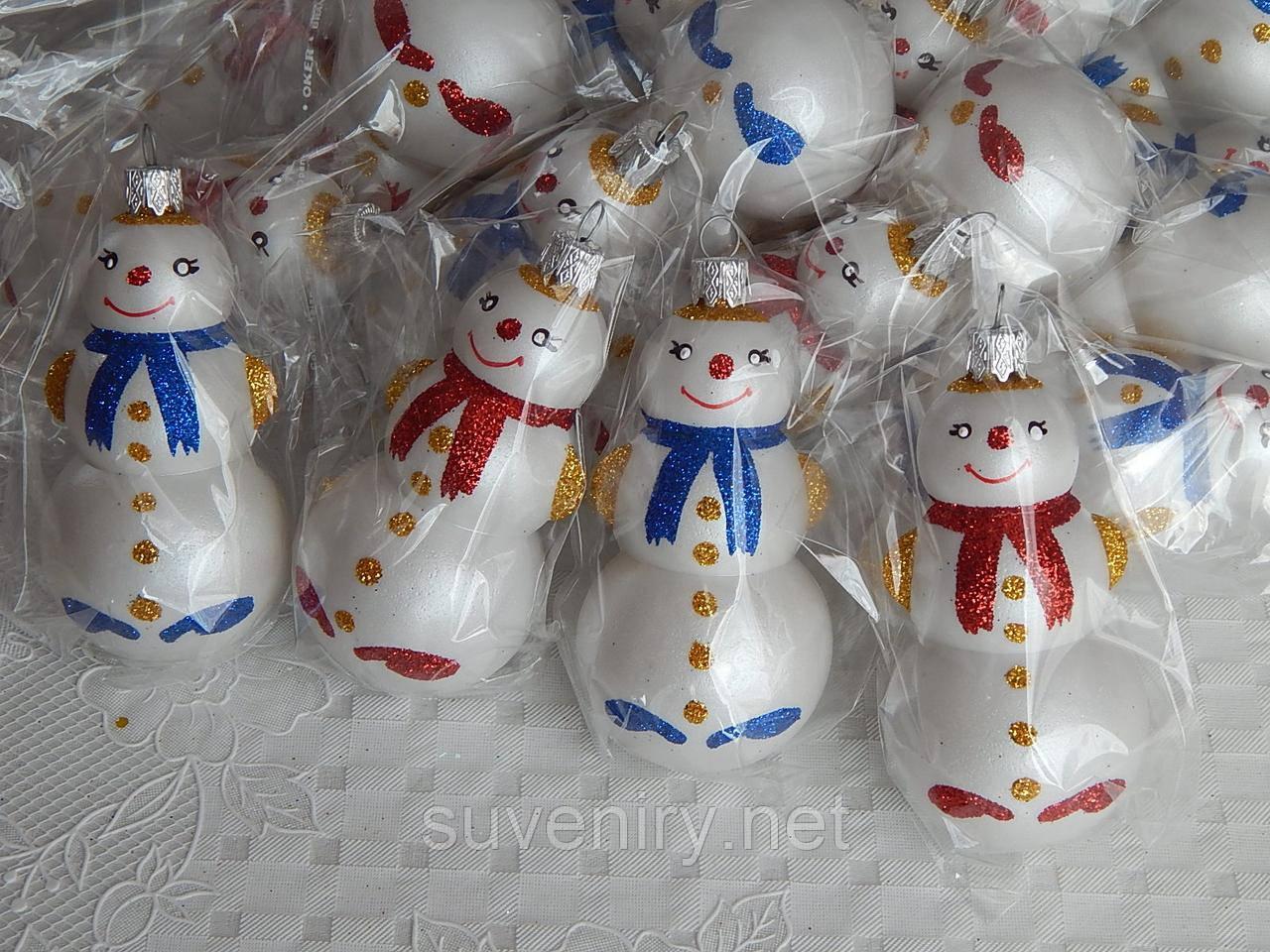 Елочная новогодняя игрушка снеговик