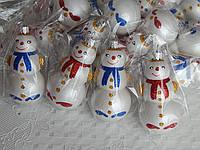 Елочная новогодняя игрушка снеговик, фото 1
