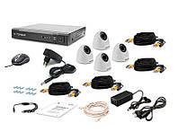 Tecsar AHD 4IN-3M DOME проводной комплект системы видеонаблюдения, фото 1