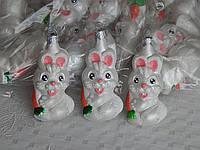 Елочная новогодняя игрушка фигурка заяц, фото 1