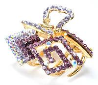 К4900-5 Краб длина 5см с фиолетовыми камнями