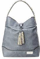 12-13 Сине-серая удобная женская сумка на плечо мешок boho бахрома моннари 5902734918130