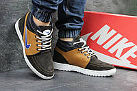 Мужские зимние кроссовки Nike кожаные,на меху