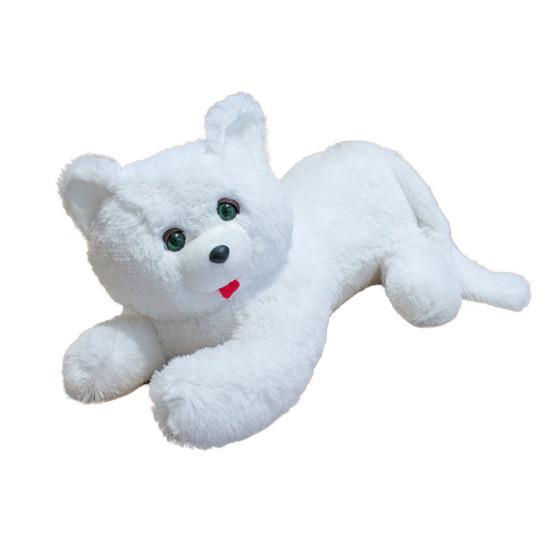Мягкая игрушка Кот Перс травка белый