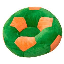 Кресло детское Мяч маленькое зелено-оранжевое