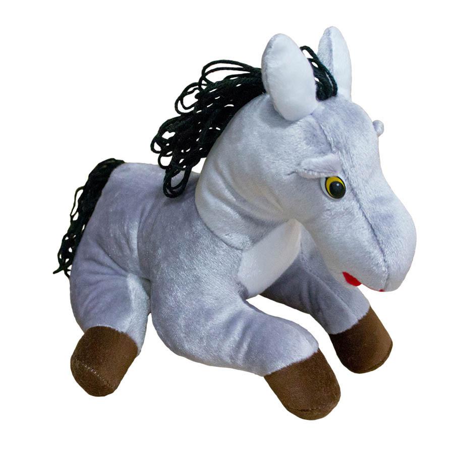 Мягкая игрушка Лошадь Шнурок лежачая