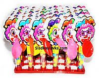 Игрушка на тубе с драже Клоун 30 шт (Китай)