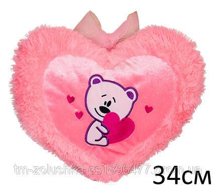 Мягкая игрушка Подушка сердце с мишкой