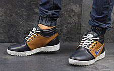 Мужские зимние кроссовки Nike кожаные,на меху 41,44р, фото 2