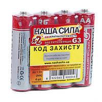 Батарейки солевые Наша Сила R6/AA Оригинал