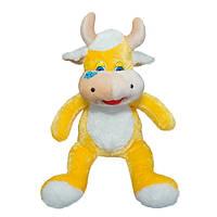 Мягкая игрушка Корова Роза желтая маленькая