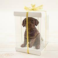 "Объемная шоколадная  фигура ""Собака Лабрадор"" элит.Размер 110х120х160,вес 740гр"