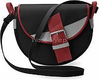 Черная женская сумка деловая декоративная пряжка 5902734917928