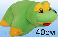 Подушка трансформер лягушка мягкая игрушка, 40 см