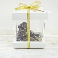 """Шоколадная  фигура """"Щенок"""" КЛАССИЧЕСКОЕ сырье.  Размер: 86х61х70мм, вес 135г, фото 1"""