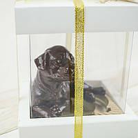 """Шоколадная  фигура """"Щенок"""" ЭЛИТНОЕ сырье.  Размер: 86х61х70мм, вес 135г, фото 1"""