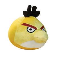 Энгри Бердс игрушка плюшевая Angry Birds Птица Чак желтая большая, мягкая игрушка злая птичка 28 см