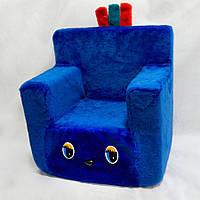 Детское кресло синий 43*40*32 диван для детей стул
