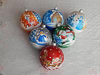 Новогодняя игрушка шар на елку 8см , фото 1