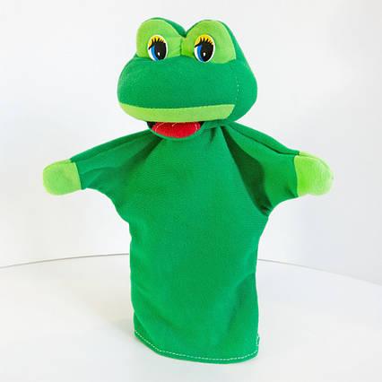 Игрушка Лягушка рукавичка (кукольный театр) 28 см