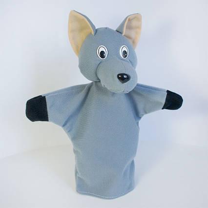 Кукла игрушка на руку Волк рукавичка (кукольный театр) 32 см