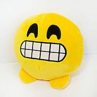 Мягкая игрушка смайлик emoji зубастик 18см