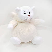 Мягкая игрушка Медвежонок Буся молочный костюм