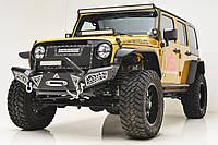 "Передний бампер силовой тюнинг Jeep Wrangler JK ""SPIDER WEB"""
