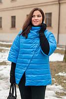 Женская куртка, рукав 3/4, большого размера осень-весна 54-72рр мята