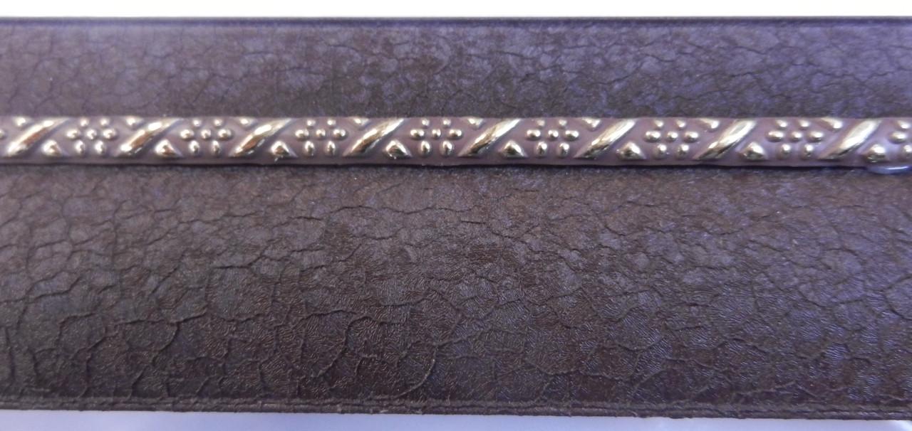 Карниз алюминиевый с молдингом широкий 2,0 м, шоколад