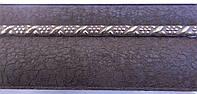 Карниз алюминиевый с молдингом широкий 3,0 м, шоколад