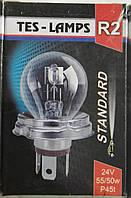 Лампа автомобильная фарная 24V 55/50W P45t