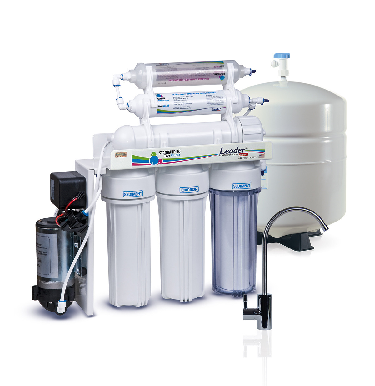 Фильтр для воды обратного осмоса Leader Standard RO-5 bio pump МТ18