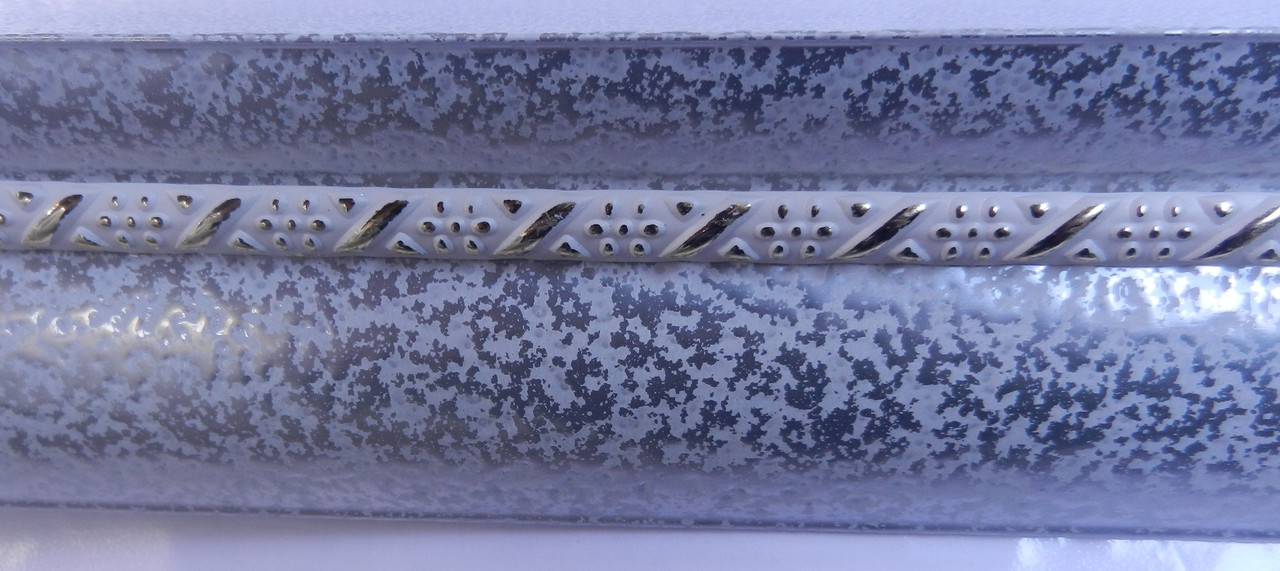Карниз алюминиевый с молдингом широкий 2,5 м, античное серебро