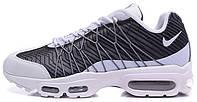 Мужские кроссовки Nike Air Max 95 Ultra Jacquard Black White, найк аир макс 95